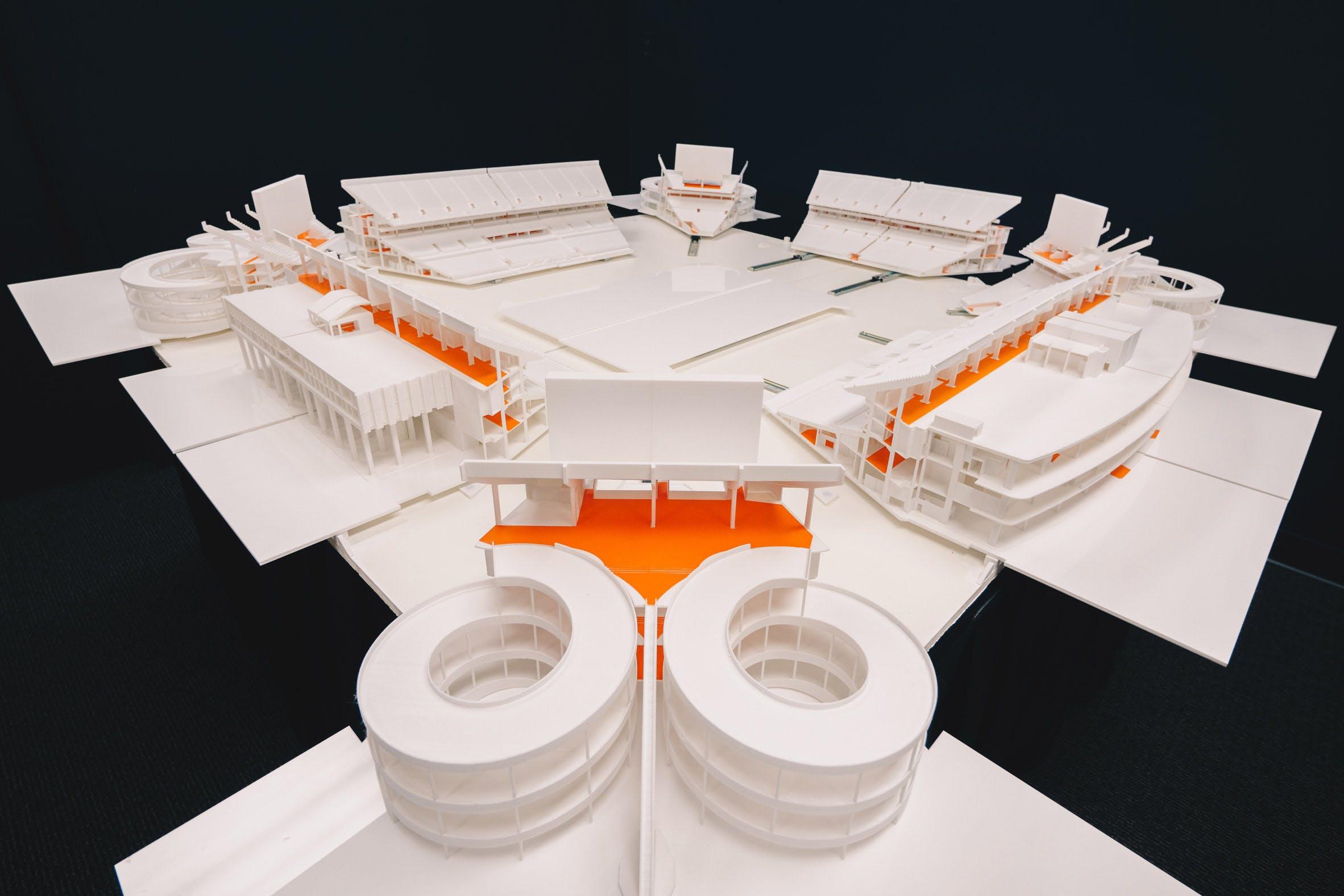 3D printed Hard Rock Stadium. Photo via Florida International University.
