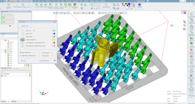 The Enhanced Multiple Print Head Control feature in 3DXpert Version 15. Image via 3D Systems