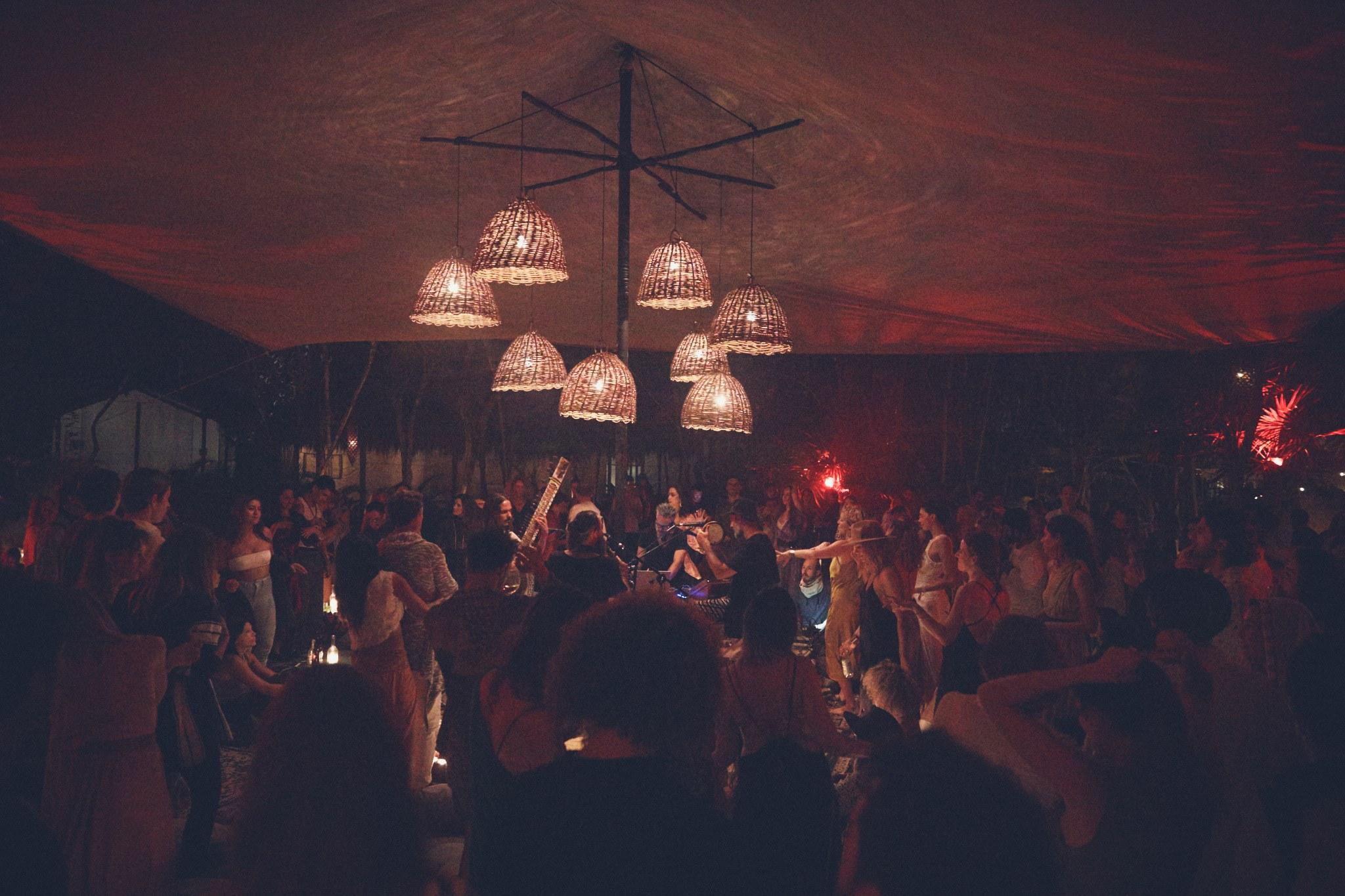 """Creating human interaction during regular live concerts. Photo via Habitas Tulum."