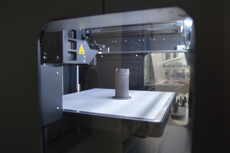 The engineers at Guhring UK have been able to rapidly prototype cutting tools in composite materials before printing them in metal.. Photo via Markforged.