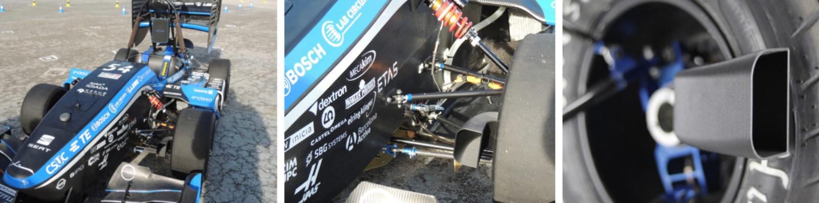 ETSEIB Motorsport's 3D printed end-use parts. Photos via BCN3D.