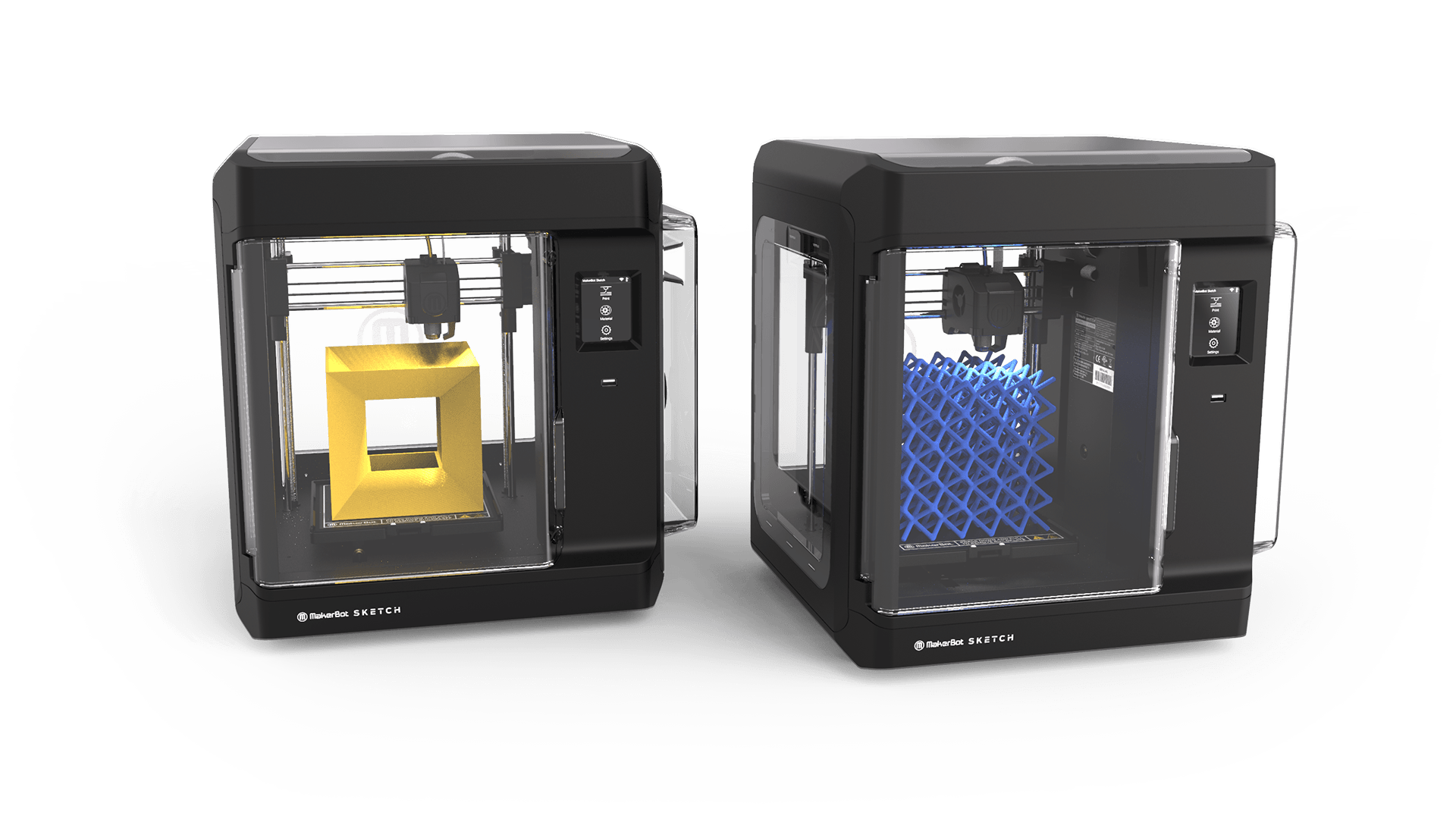 SKETCH Classroom 3D printers. Image via MakerBot.