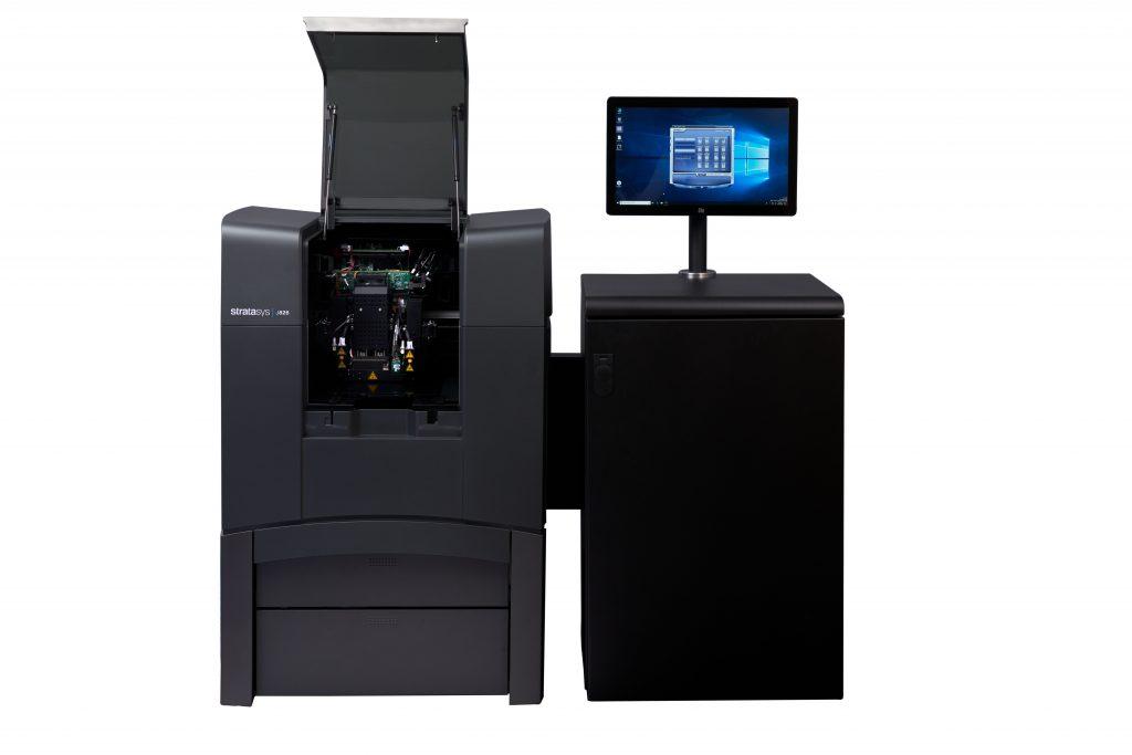 The Stratasys J826 3D Printer and Material Cabinet. Photo via Stratasys.