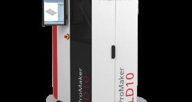 The ProMaker LD10 Dental Series provides the 42 µm resolution of MOVINGLight® technology. Image via Prodways.