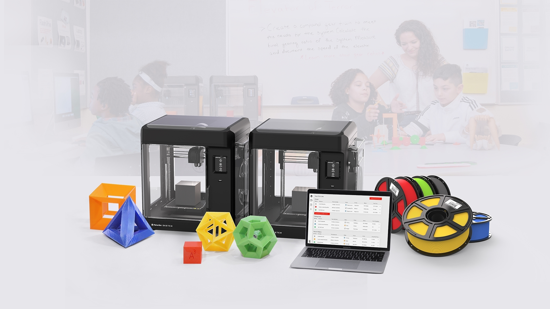 The MakerBot SKETCH Classroom. Image via MakerBot.