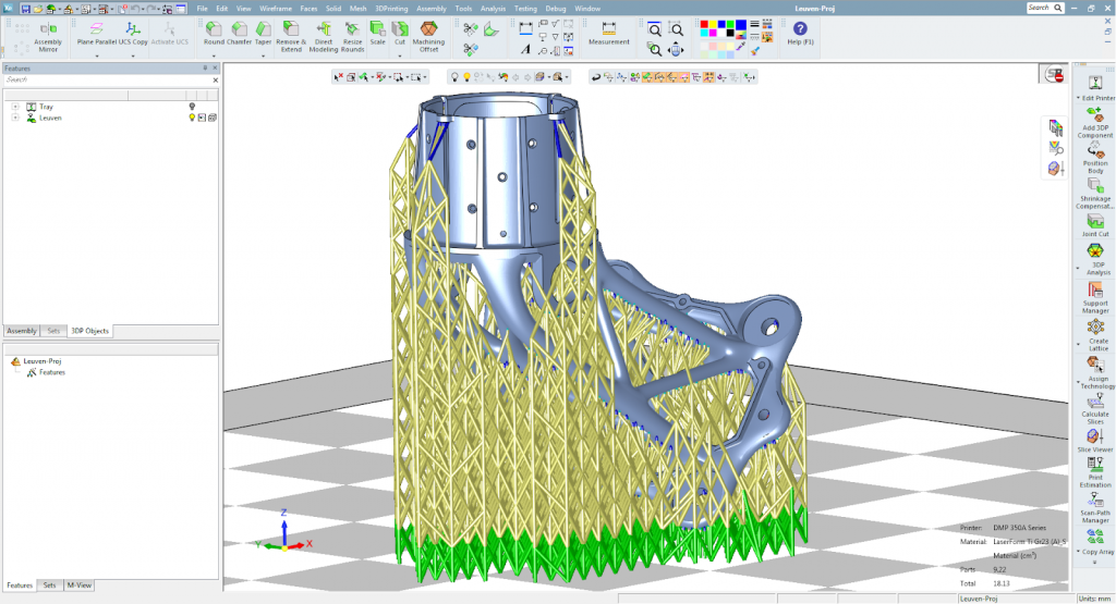 Power Supports for automated support generation in 3DXpert Version 15. Image via 3D Systems