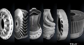Support free metal 3D printed parts.. Photo via VELO3D.