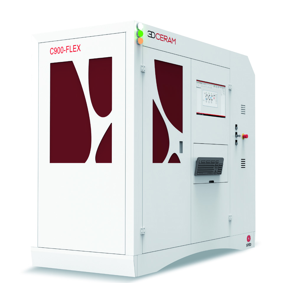 C900 FLEX ceramics printer. Image via 3DCERAM-SINTO.