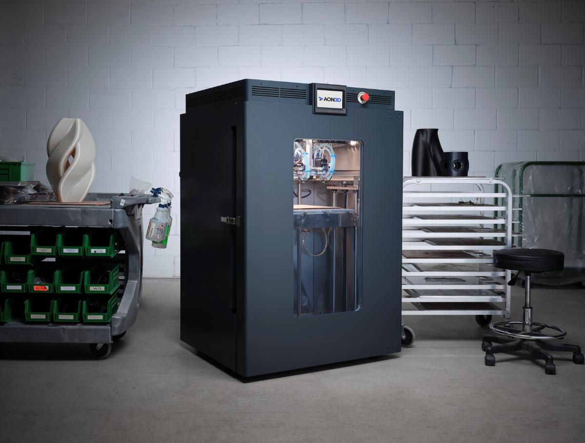The AON-M2 2020 3D printer. Photo via AON3D.