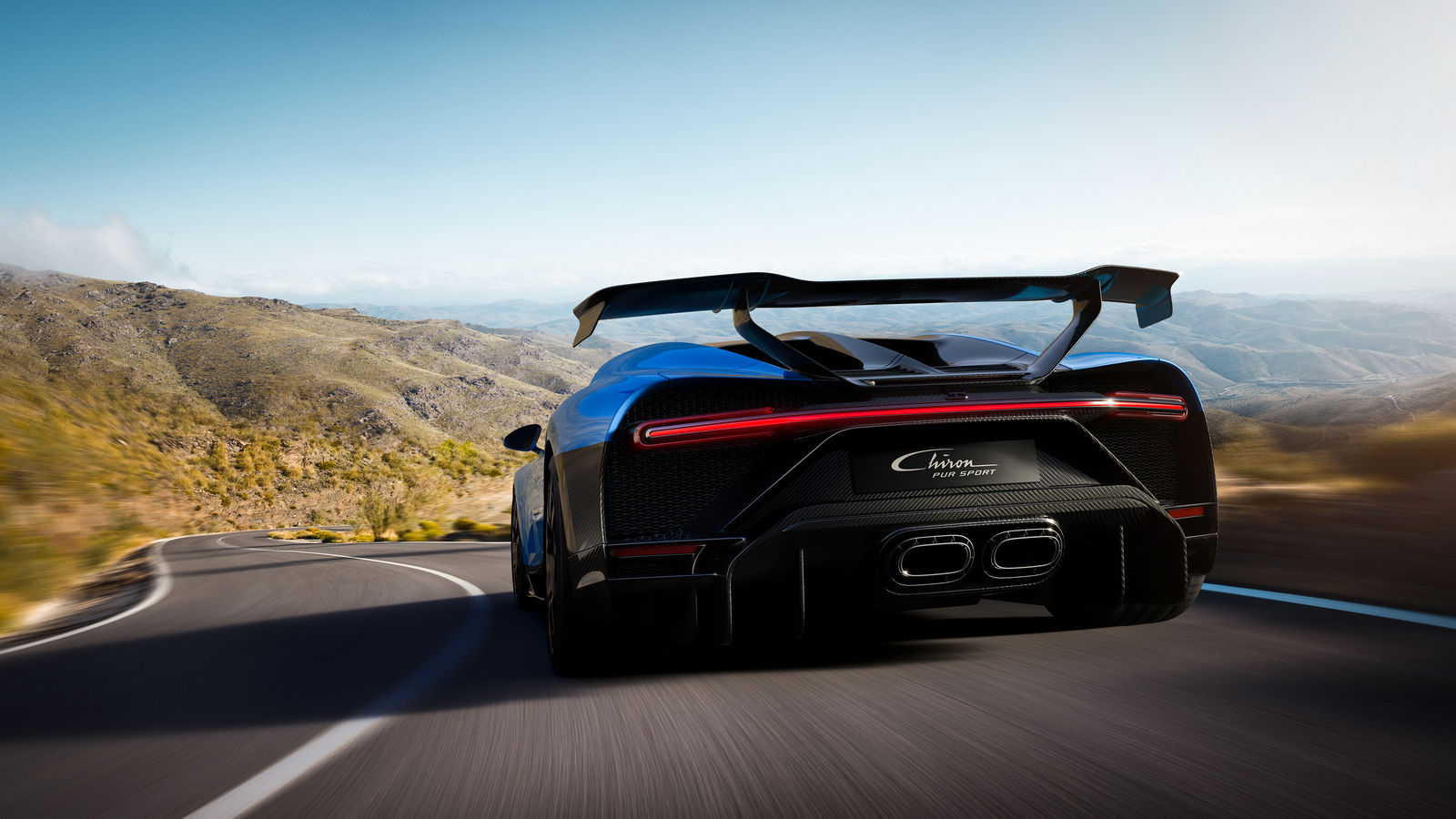 The Bugatti Chiron Pur Sport rear. Photo via Bugatti.