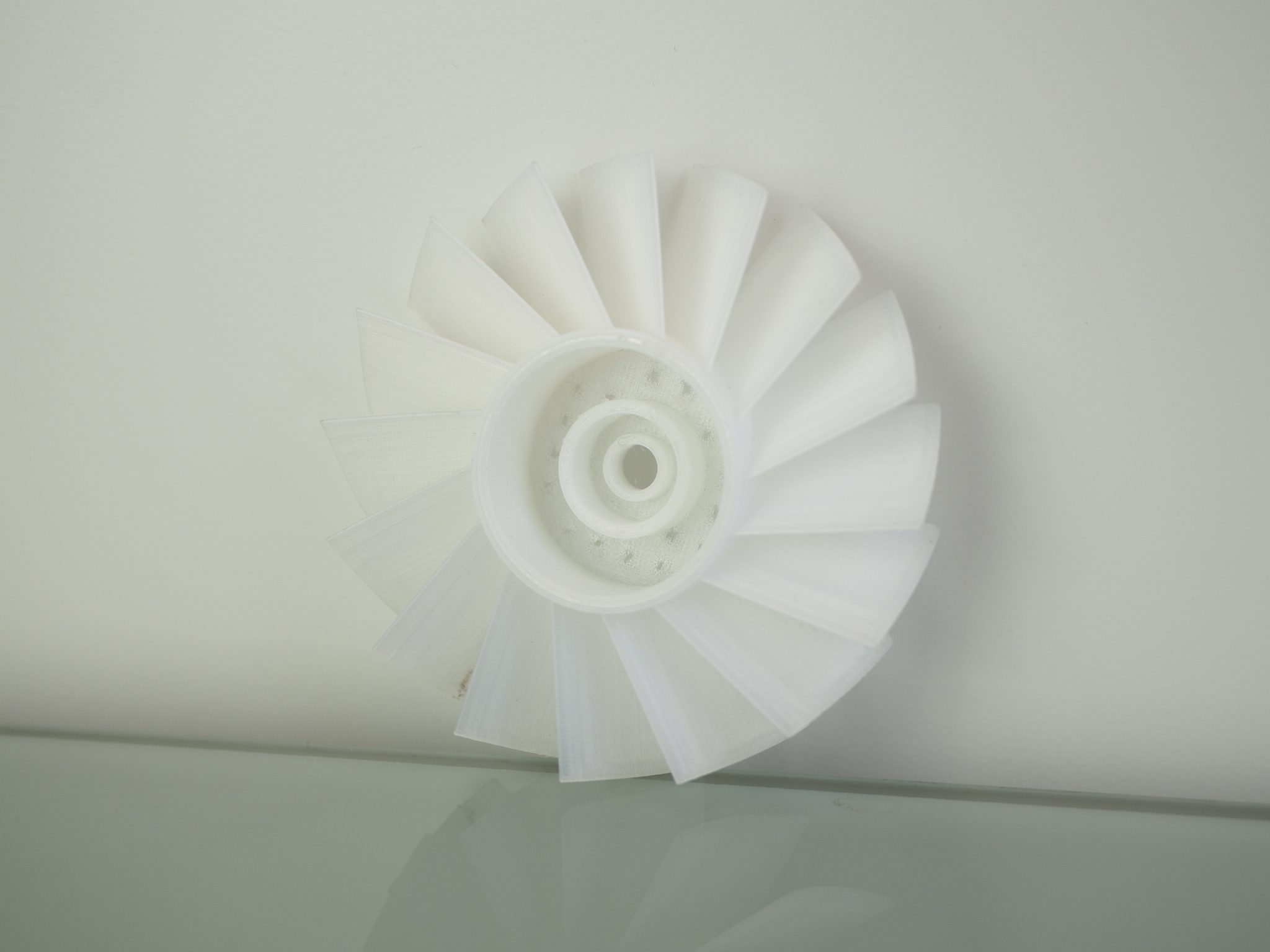 Nylon turbine test. Photo by 3D Printing Industry.