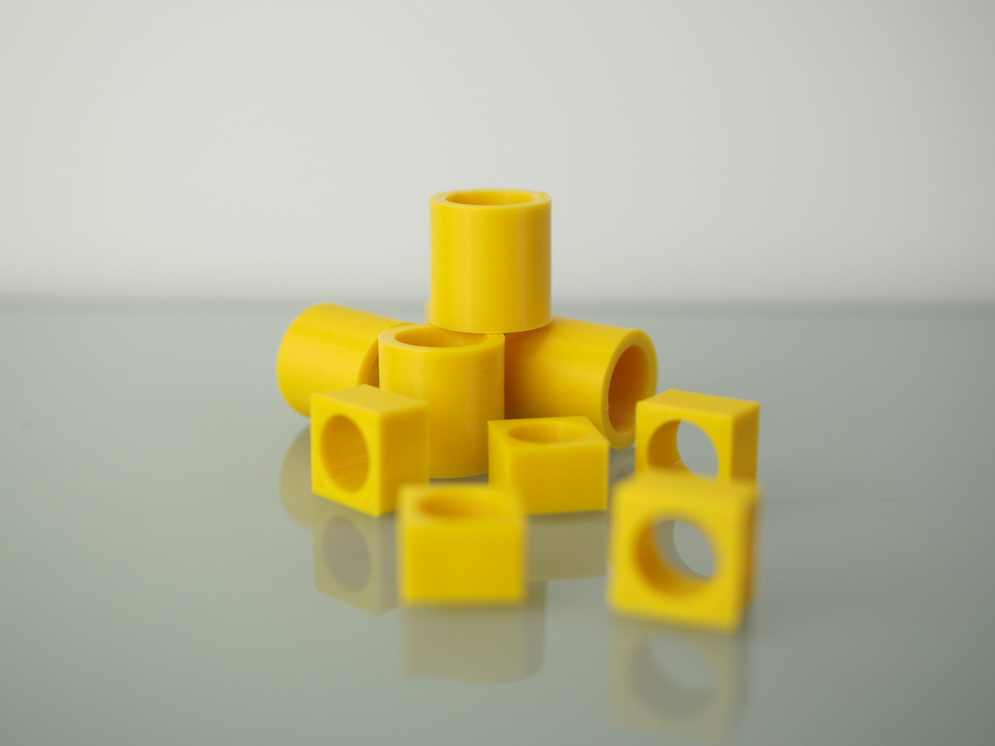 The models used in the repeatability test. Photo by 3D Printing Industry.