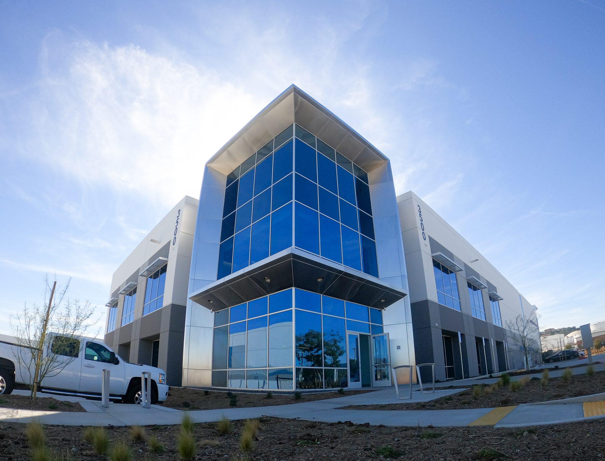 Relativity Space autonomous facility exterior. Photo via Relativity Space.