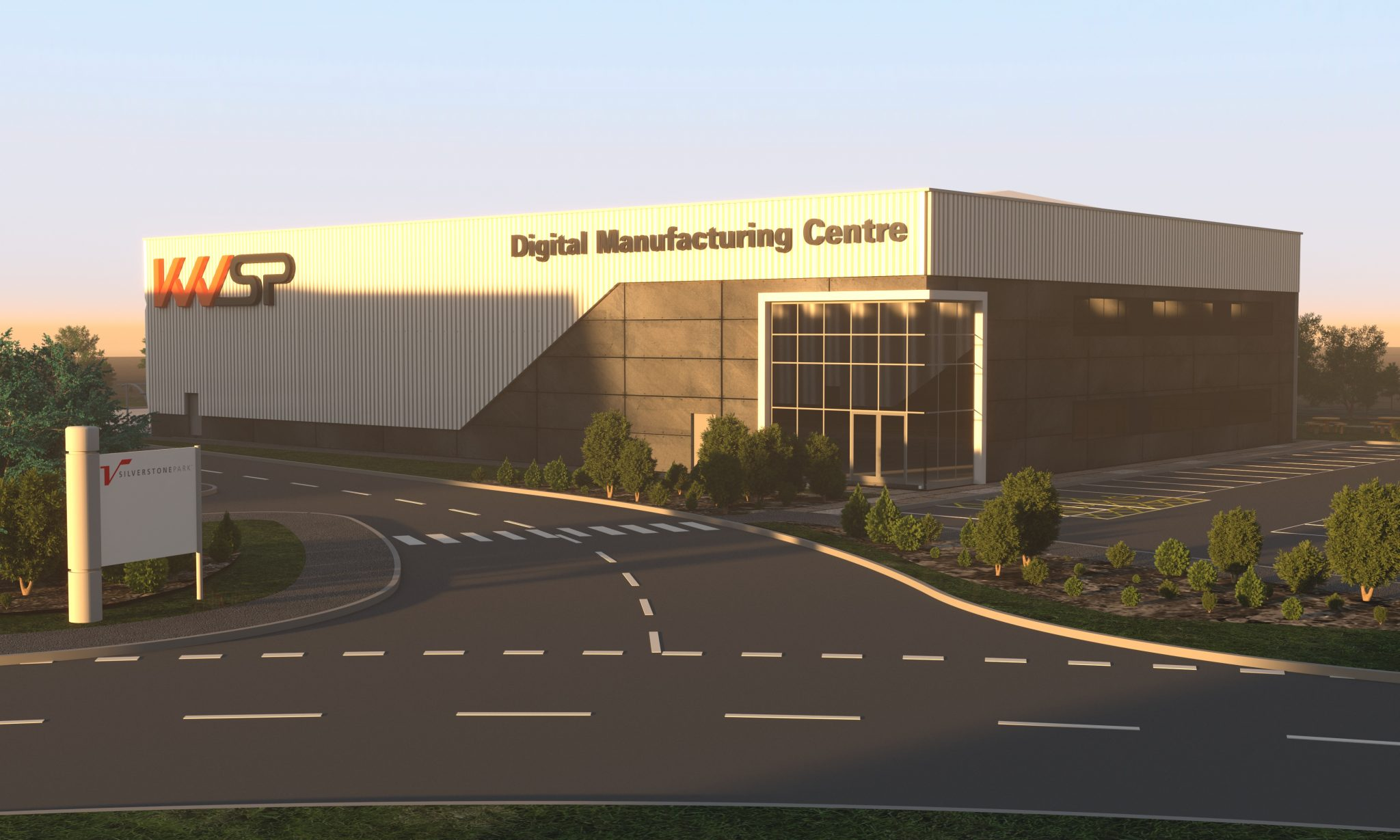 KWSP's new Digital Manufacturing Centre (DMC), based in Silverstone Park. Photo via RPS.