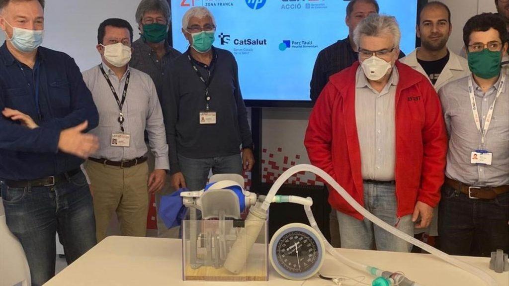 Leitat 1 3D printing enabled respirator.