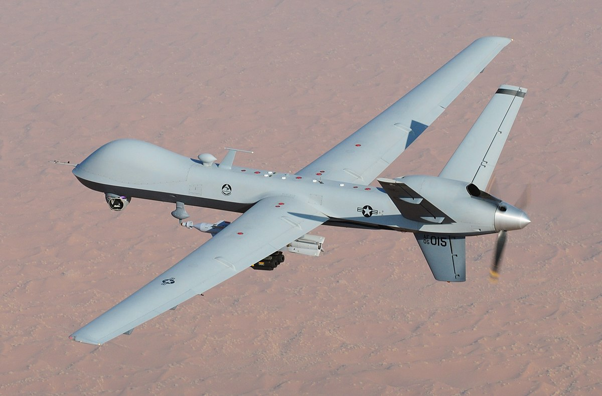 MQ-9 Reaper UAV - an unmanned drone used by the US Military. Photo via Department of Defense.