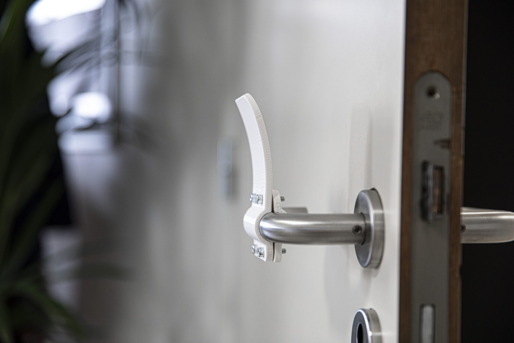 The hands free door opener. Photo via Materialise.