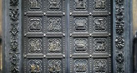 South doors of the Florence Baptistery. Photo via WGA.