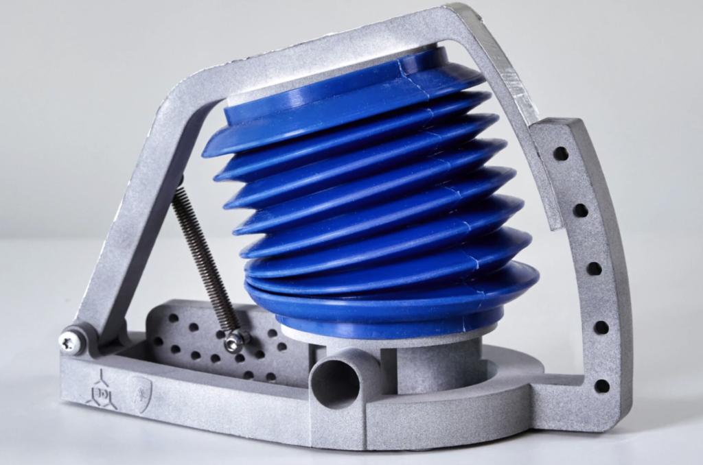 3D printed lung simulator. Photo via Lamborghini.