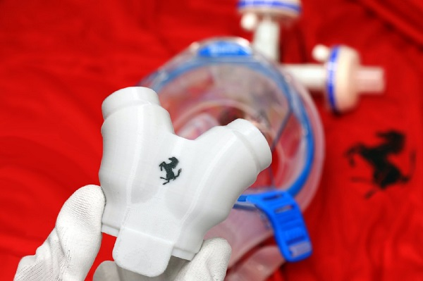 A 3D printed valve by made Ferrari. Photo via Ferrari.