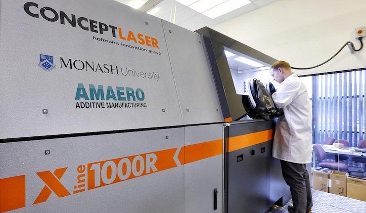 Amaero's Concept Laser XLine 1000R system. Photo via Amaero.