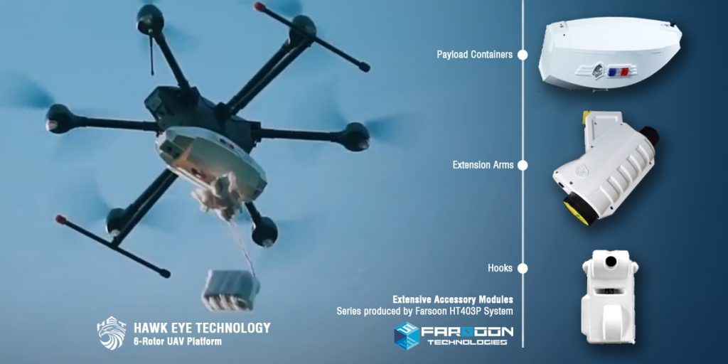 How the Hawk Eye drone uses Farsoon 3D printing technology. Image via Farsoon.
