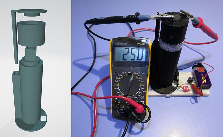 Low-cost 3D printed polarimeter. Image and photo via Paweł Bernard and James Mendez.