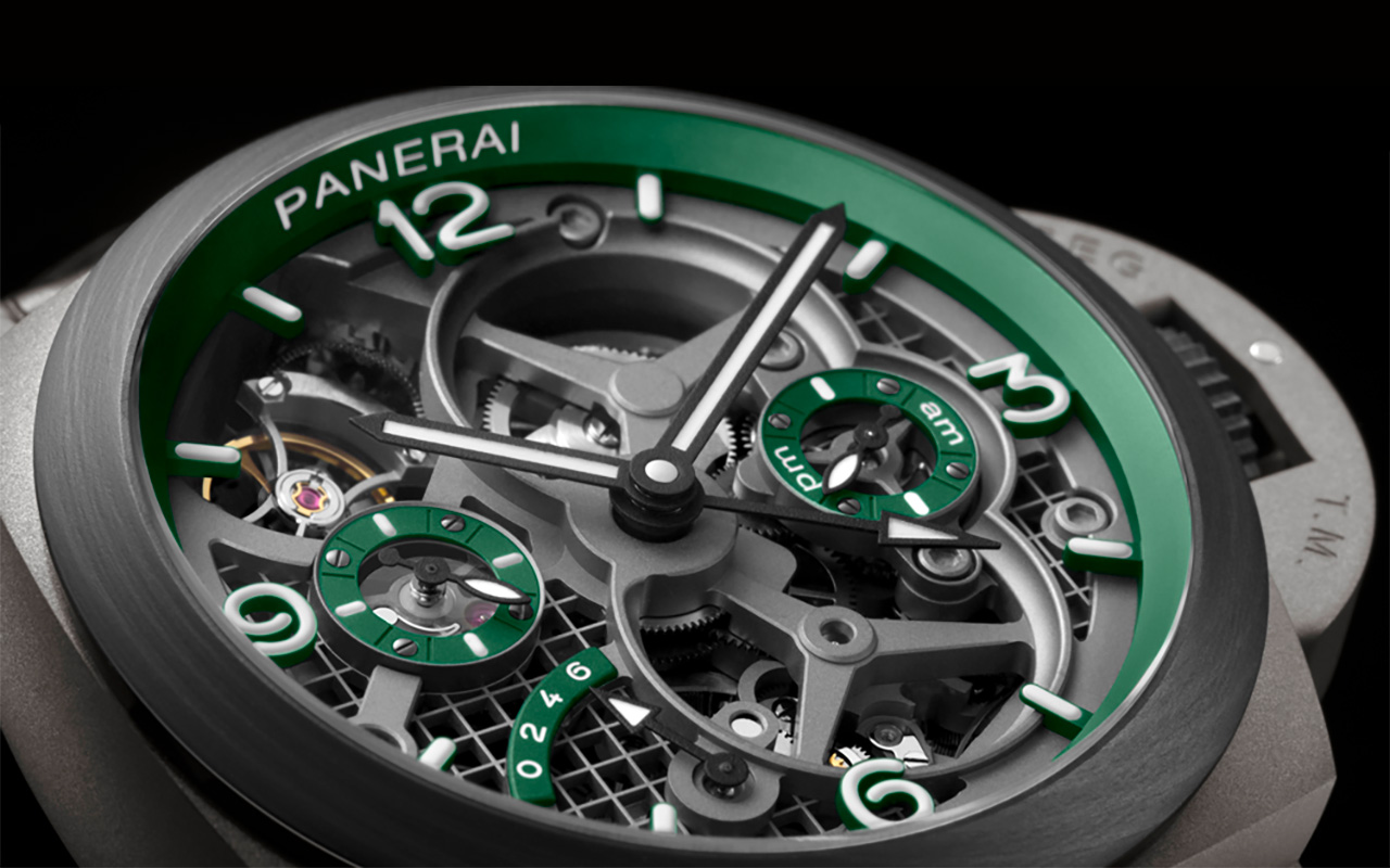 Panerai's new limited edition PAM 768 watch features a 3D printed case. Photo via Panerai.