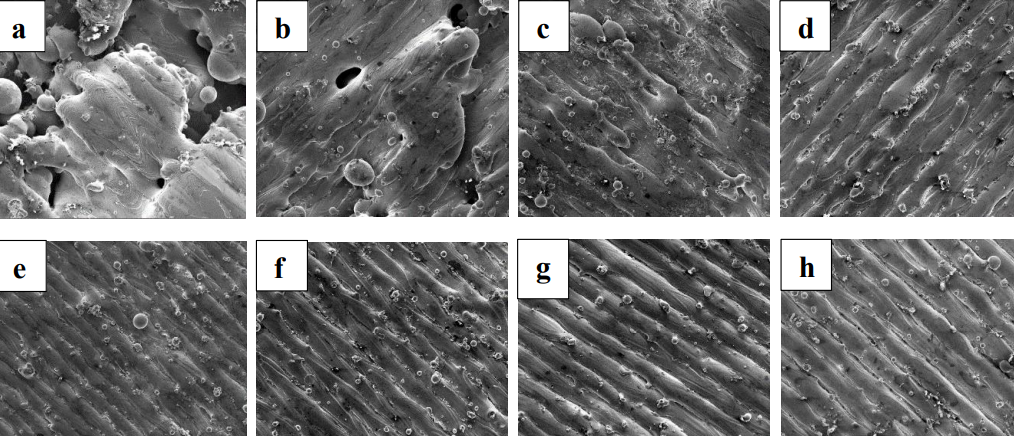 SEM micrographs of the 3D printed ultra-high strength AF9628. Image via Texas A&M.