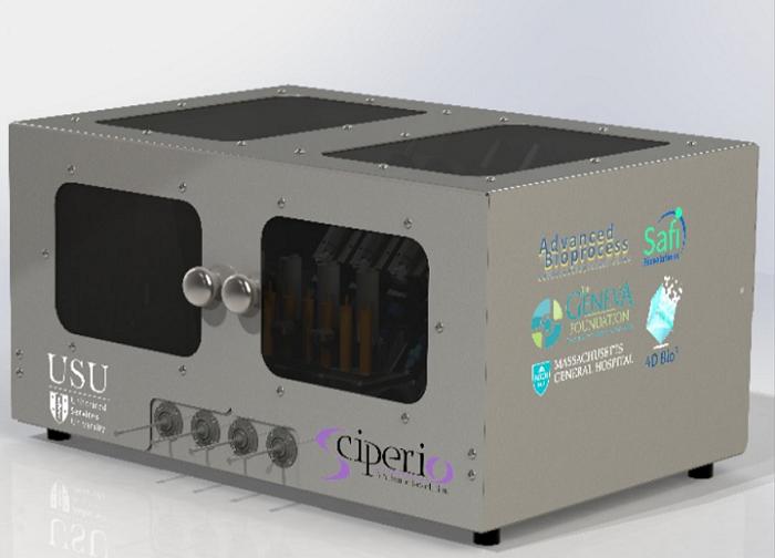Sciperio's bioreactor where blood will be produced. Photo via Sciperio.