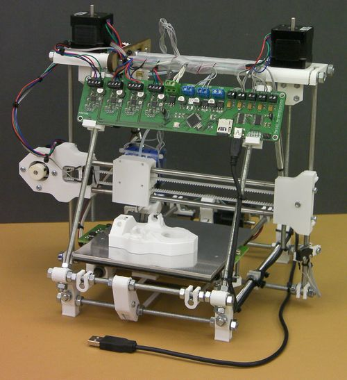 The RepRap project is centered around self-building DIY 3D printers. Photo via RepRap.