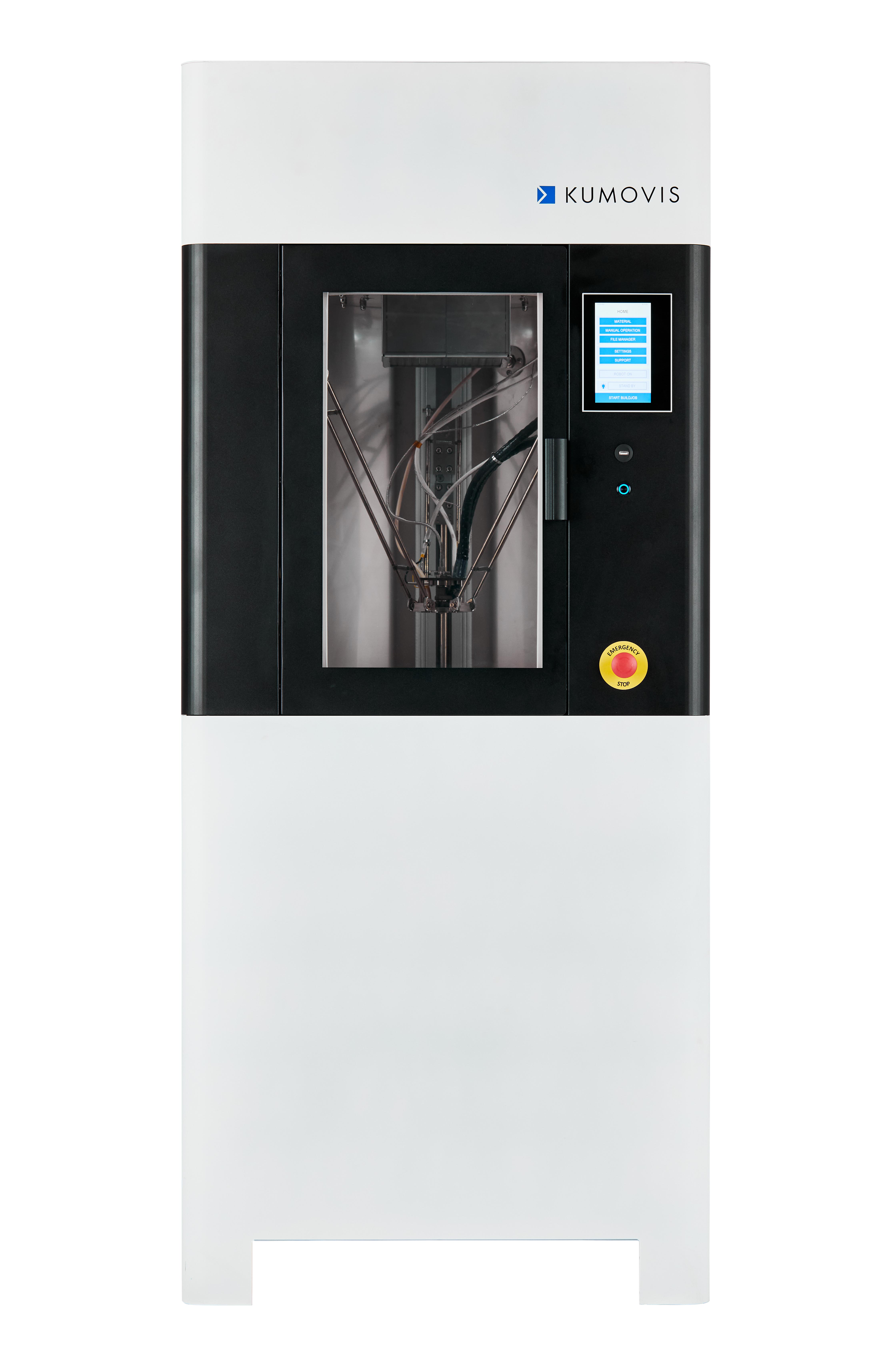 Kumovis R1 3D printer. Photo via Kumovis.