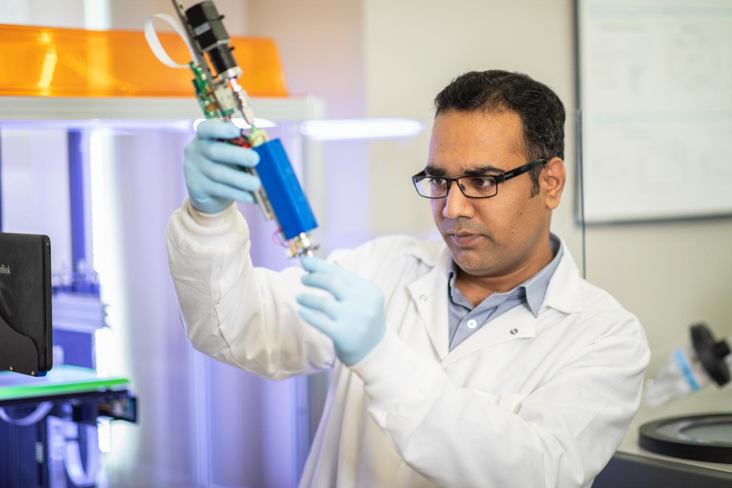 Dr. Akhilesh Gaharwar and his multidisciplinary team are finding new ways to the design and produce 3D-bioprinted bone tissue to benefit bone regeneration. Photo via Texas A&M Engineering.