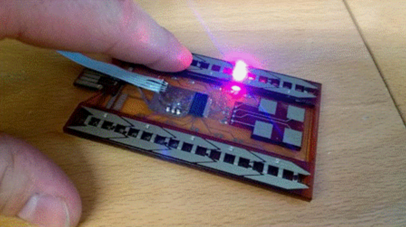 3D printed touch sensor. Photo via Nano Dimension.