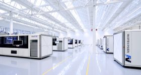 Featured image shows the Additive Industries' MetalFAB1 3D printers on its production floor. Photo via Additive Industries.
