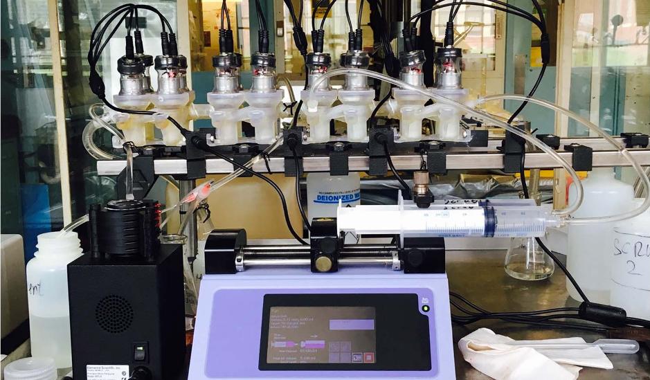 The Argonne team's experimental ALSEP setup. Photo via Scientific Reports.