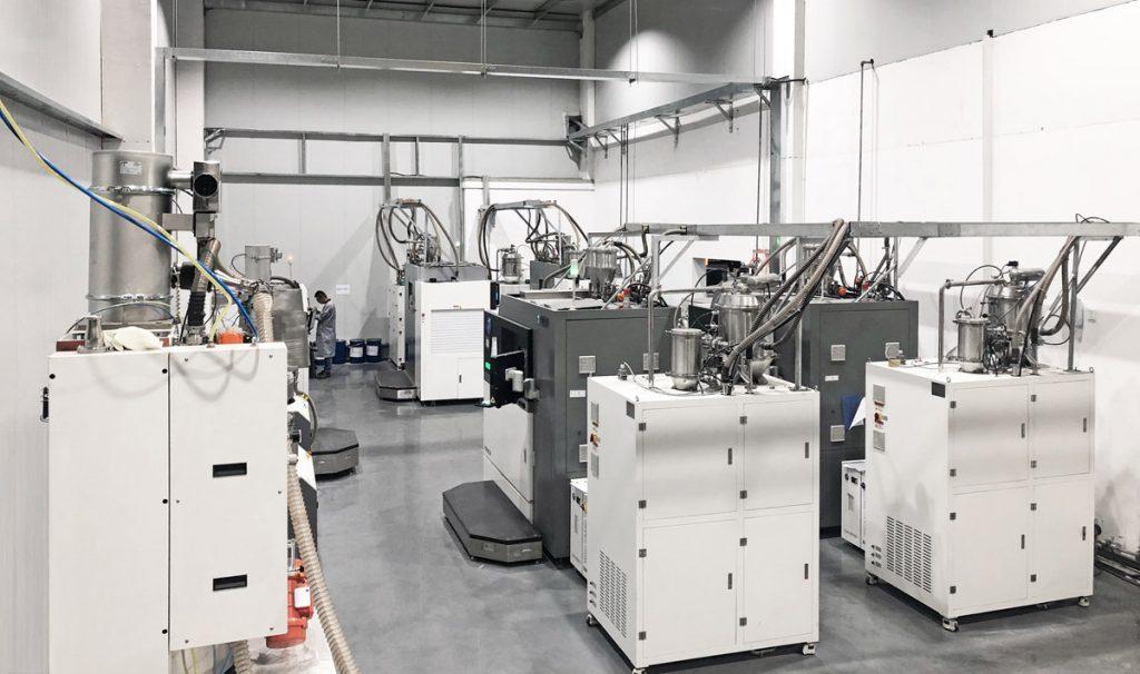 Farsoon metal 3D printers on the Falcontech shop floor. Photo via Falcontech.