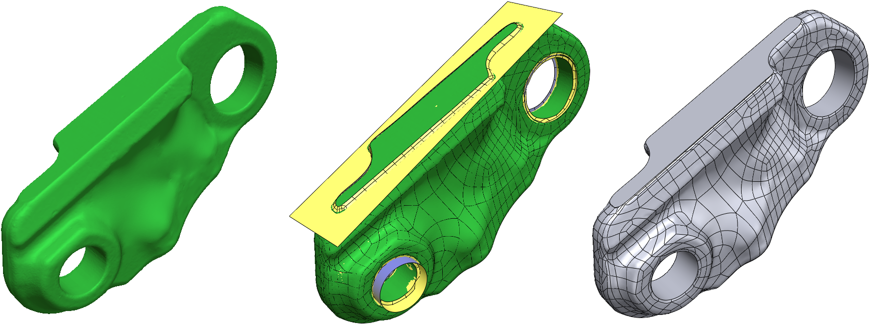 Geomagic Design X 2020 streamlines hybrid modeling workflows for topology optimization. Image via 3D Systems.