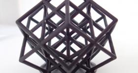 A model produced using Liqcreate's premium black resin. Photo via Liqcreate.