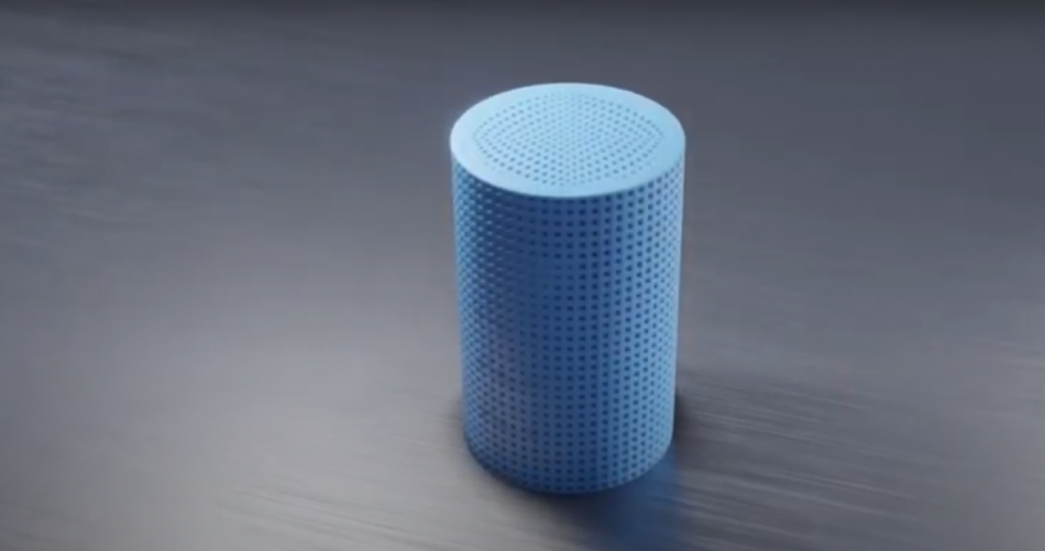 A Chromatographic column produced using Lithoz's 3D ceramic printing technology. Photo via Lithoz.