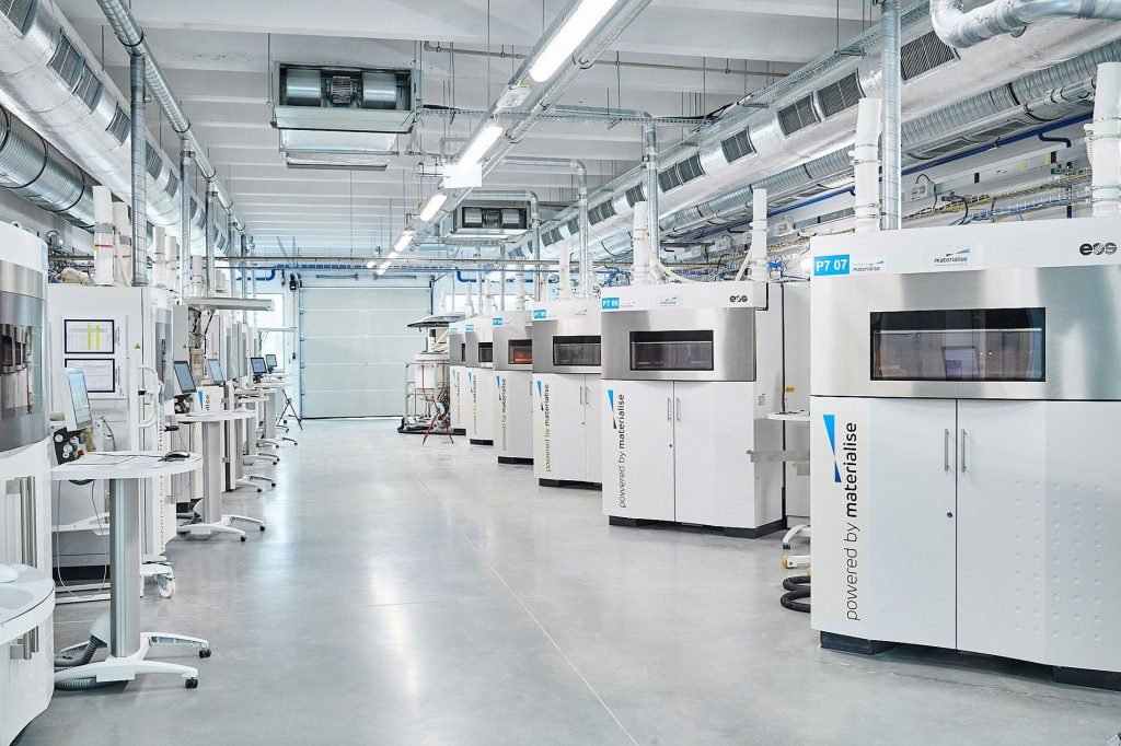 Materialise 3D printing lab. Photo via Materialise.