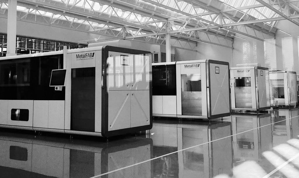 Additive Industries' MetalFAB 3D printers are scalable, with a capacity of eleven modules. Photo via Additive Industries.