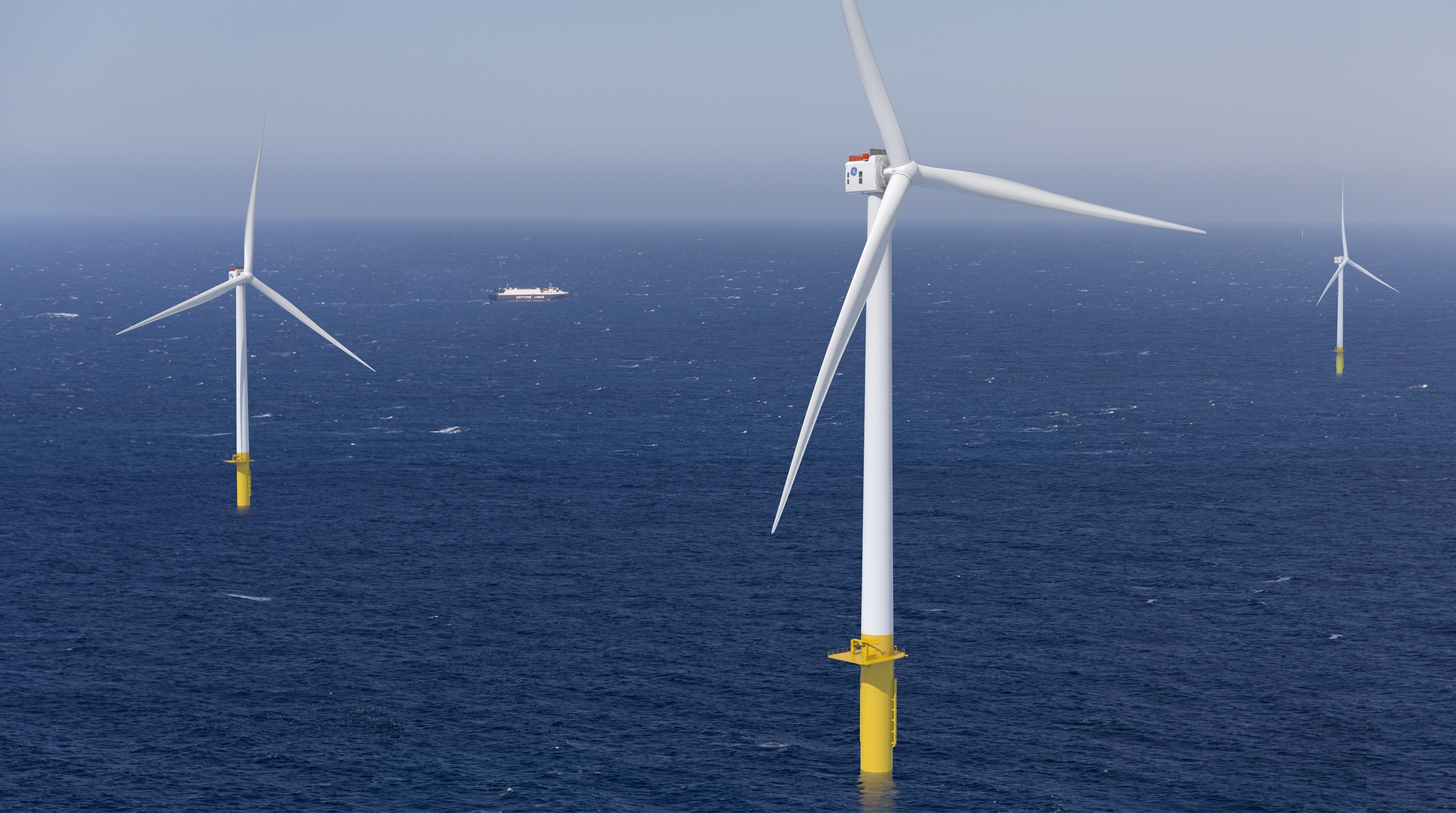 Offshore wind farm. Photo via GE.