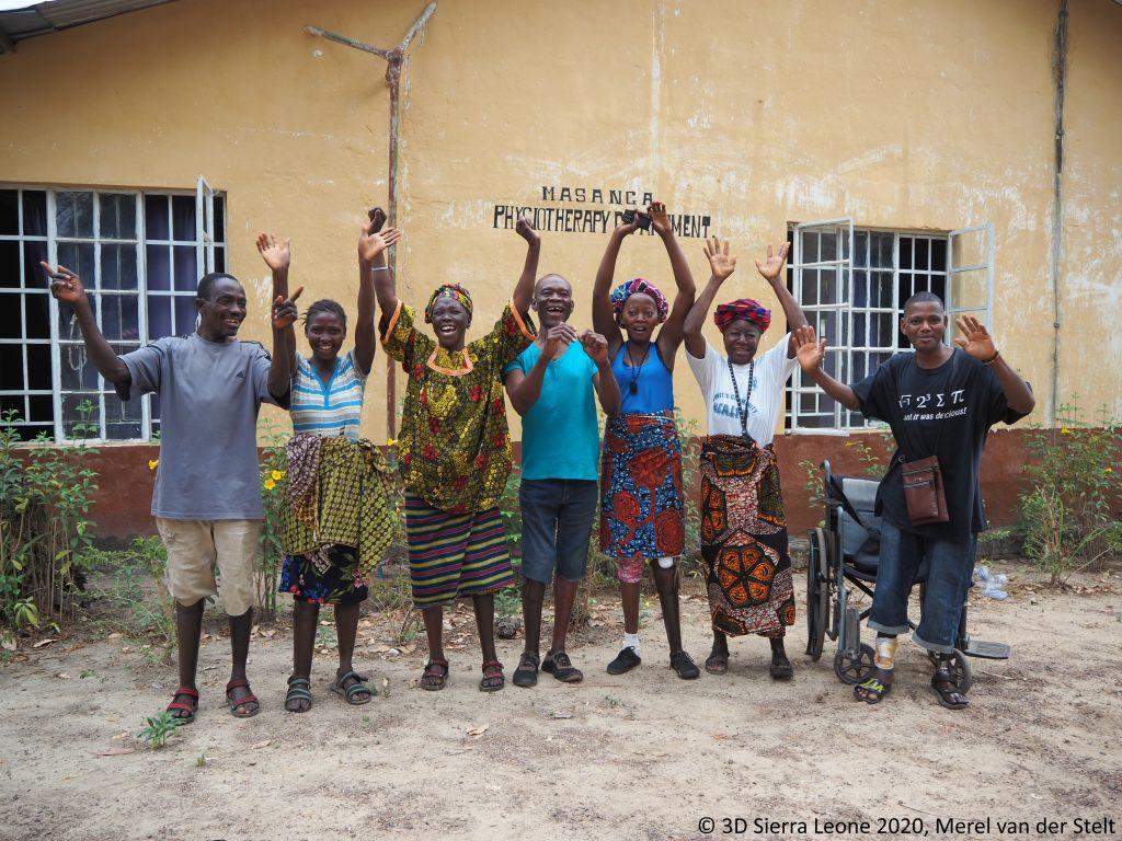 3D printed prostheses in Masanga. Photo via 3D Sierra Leone.