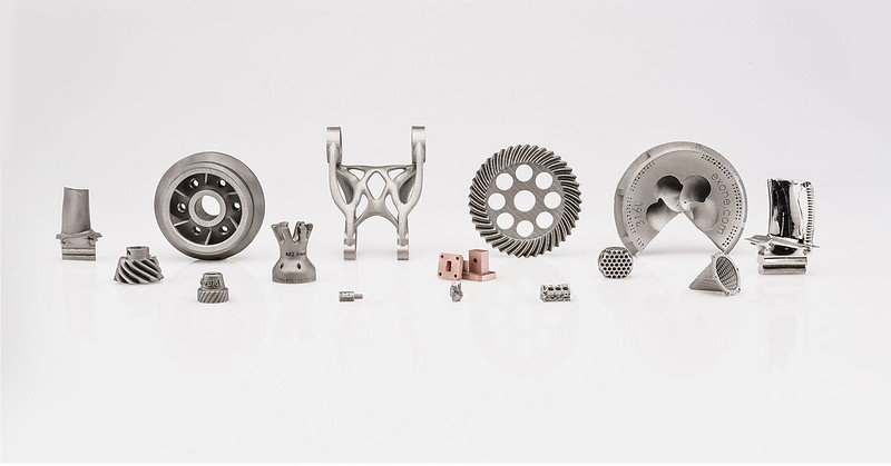 Parts 3D printed using ExOne's 20+ qualified materials. Photo via ExOne.