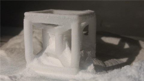 A product developed using new polypropylene powder for SLS 3D Printing certification. Photo via Braskem.