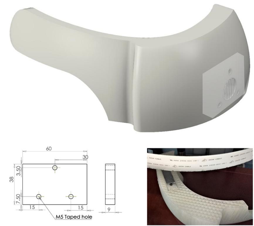 3D printed nylon head support. Image via Swansea University.