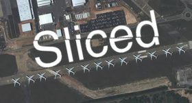 Featured image shows the Sliced logo on an image of Salt Lake City International Airport. Photo via VELO3D, Maxar Technologies.