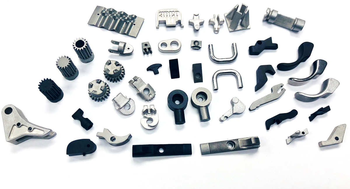 Collection of small metal parts 3D printed by 3DEO. Photo via 3DEO.