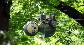 SlothBot in the Garden. Photo via Georgia Institute of Technology.